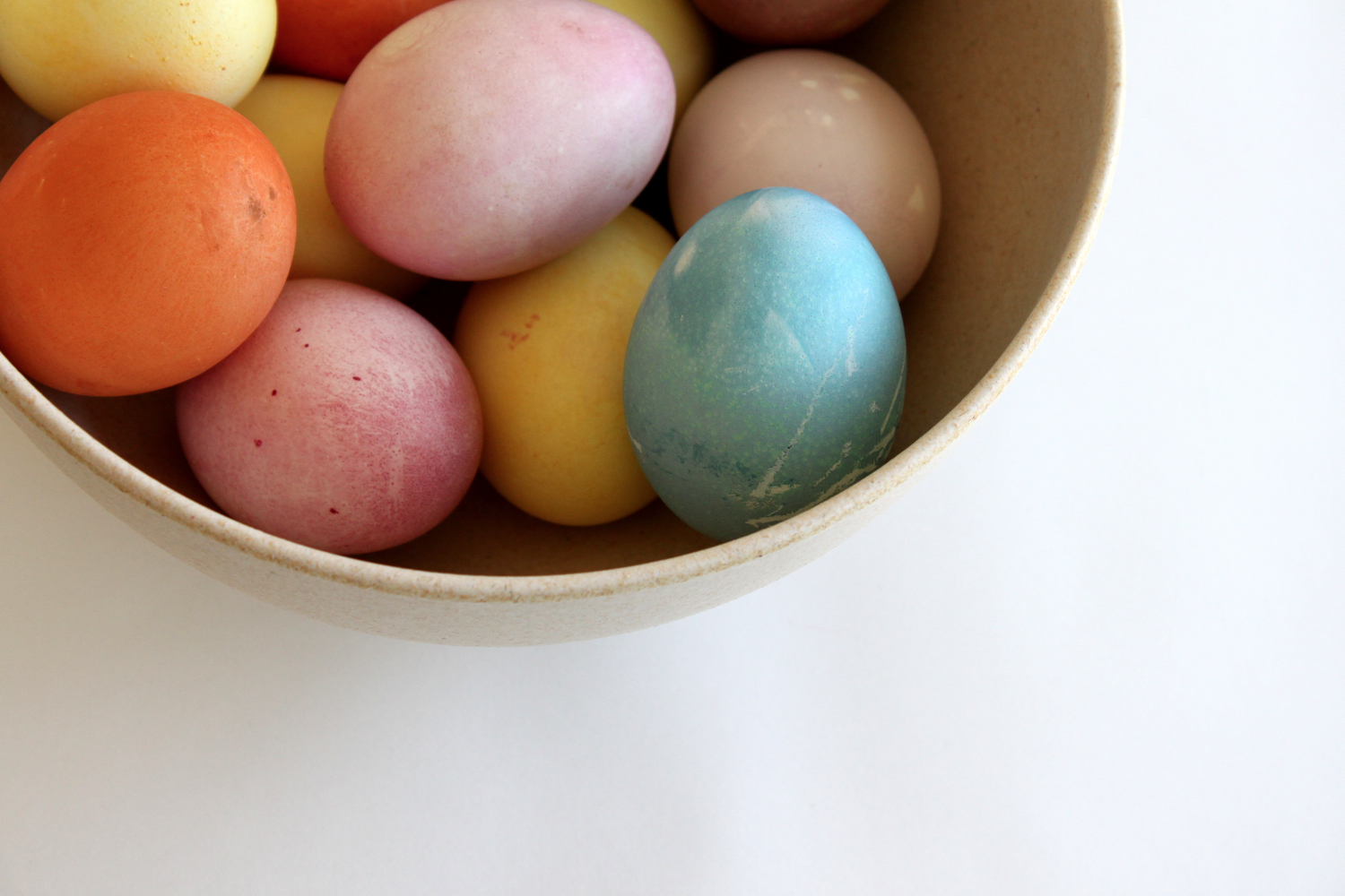Happy Easter - natural egg dye recipes