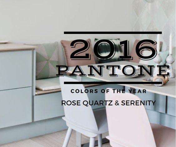 Rose Quartz & Serenity Blue - Pantone 2016 COTY | KitchAnn style