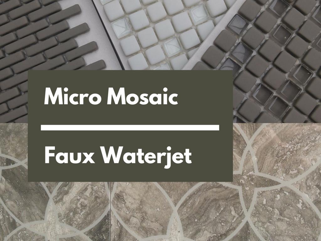 Micro Mosaic - Faux Waterjet | KitchAnn Style
