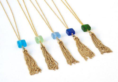 Upcycled Glass Necklace KitchAnn Style