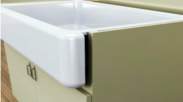 New Apron Front Sink for Retrofitting | Kitchann style