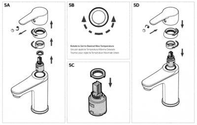 Pfirst Modern Faucet Temperature detail | KitchAnn style