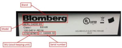 Blomberg & summit appliance recall 2017