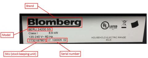 Blomberg & summit appliance recall 2017