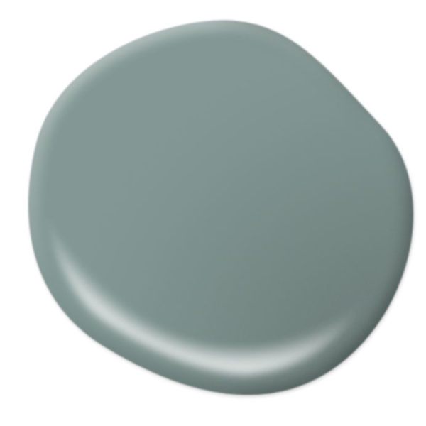 """Behr Color of the Year 2018 """"In the Moment""""is a cool, tranquil, spruce blue inspired by nature. #colortrends"""