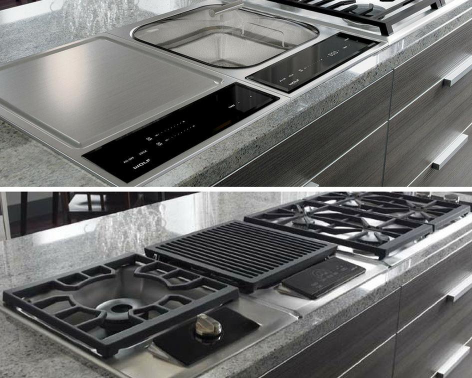 Before and After cooktop comparison