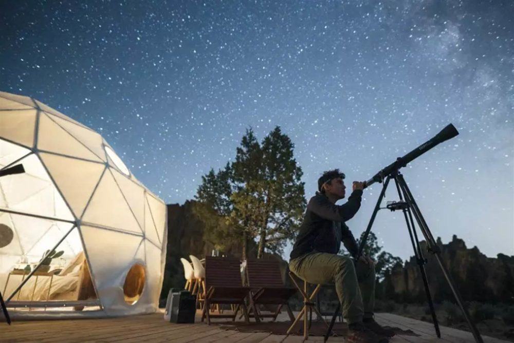 2 person geodesic dome glamping in Oregon from Airbnb