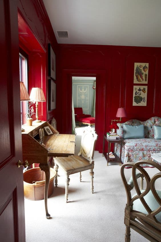 Benjamin Moore Color of the Year 2018 Caliente inspiration from the web. #colortrends
