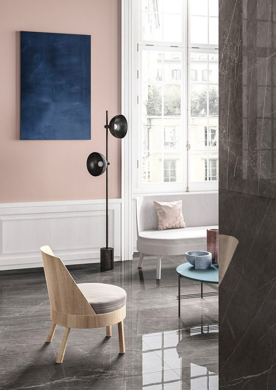 Gray neutrals and pink are like salt to caramel. - KitchAnn Style