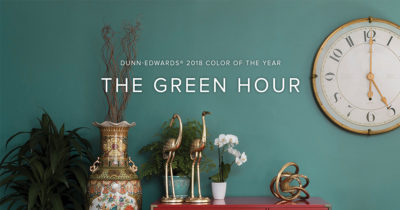 The Green Hour is a vibrant green that embodies individual spirit and adventure.