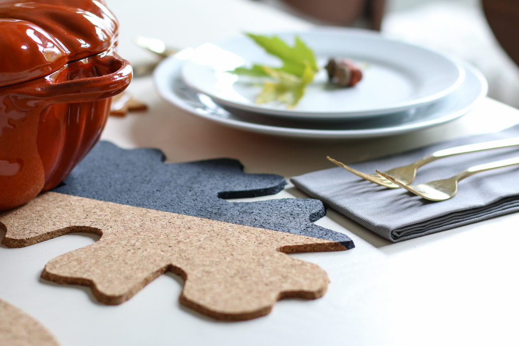 Thanksgiving Table cork leaves tutorial and planning tips
