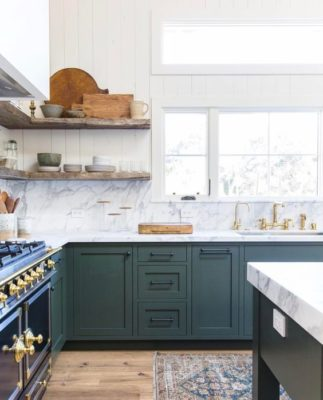Green has been trending for a while so it's no surprise to see this gray-ed blue green selected by Dunn-Edwards