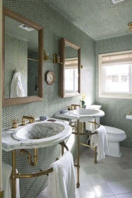Consider using a custom grout color to add more ambiance to your bath.