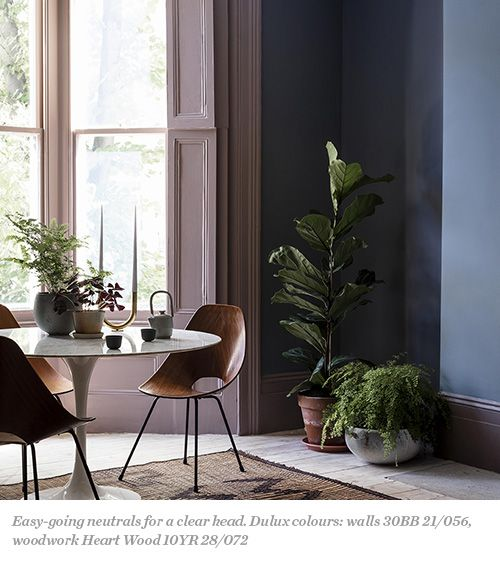 Thanks to a bit of gray this pink is turned into neutral color, making it more adaptable.