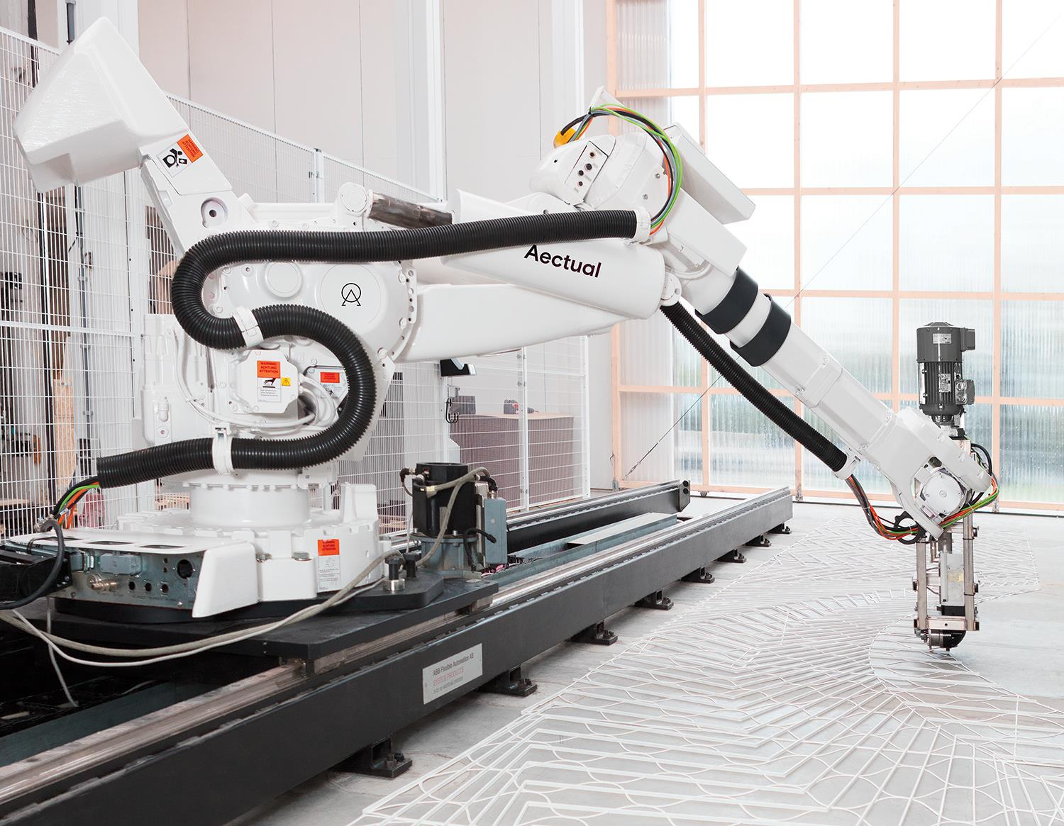 3D Printed Terrazzo Floors with large robots. #3dprinting