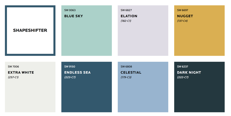 Sherwin-Williams 2019 Colormix Forecast: ShapeShifter