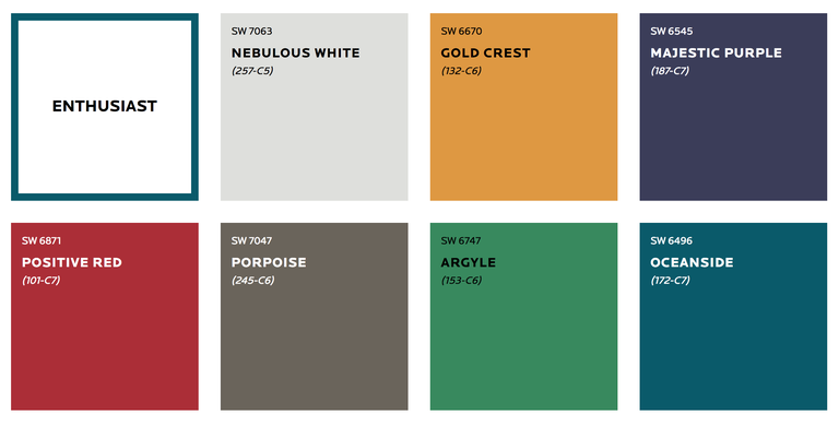 Sherwin-Williams 2019 Colormix Forecast - Enthusiast
