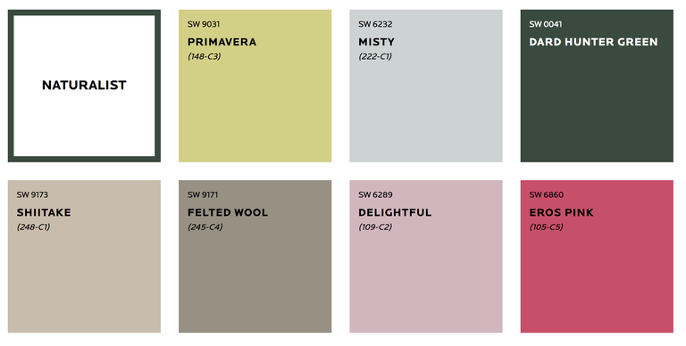 Sherwin-Williams 2019 Colormix Forecast - Naturalist