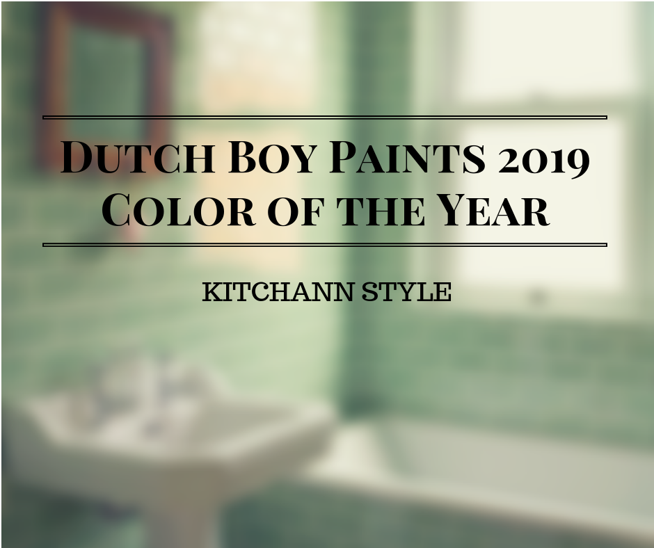 Dutch Boy Paints' Color of the Year 2019