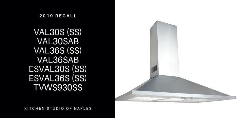 Air King Recalls Valencia Range Hoods 2019