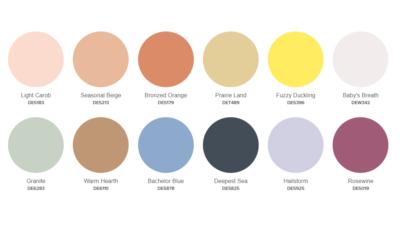 Dunn Edwards 2020 neu traditional palette