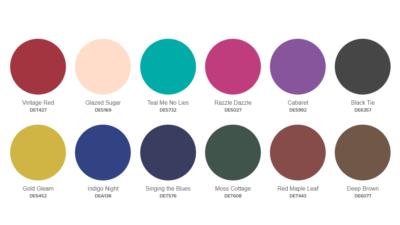 Dunn Edwards 2020 Silk Road palette