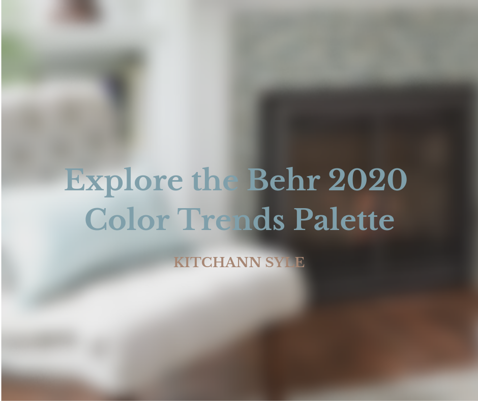 Behr Reveals 2020 Color Trends Palette inspiration