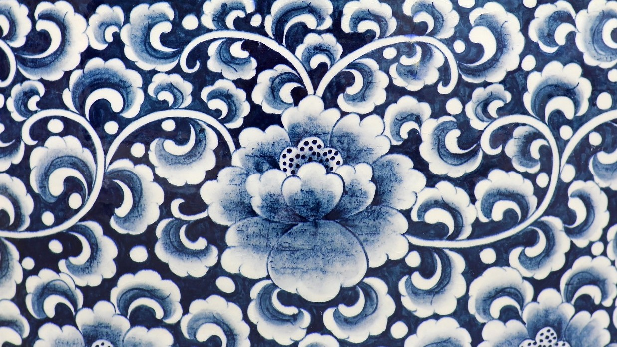 PPG color of the year - chinese porcelain print