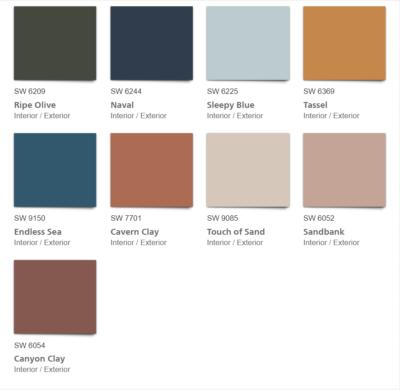 Alive 2020 Color Palette color chips