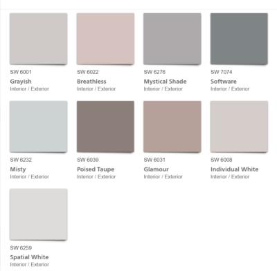 Mantra 2020 Color Palette color chips