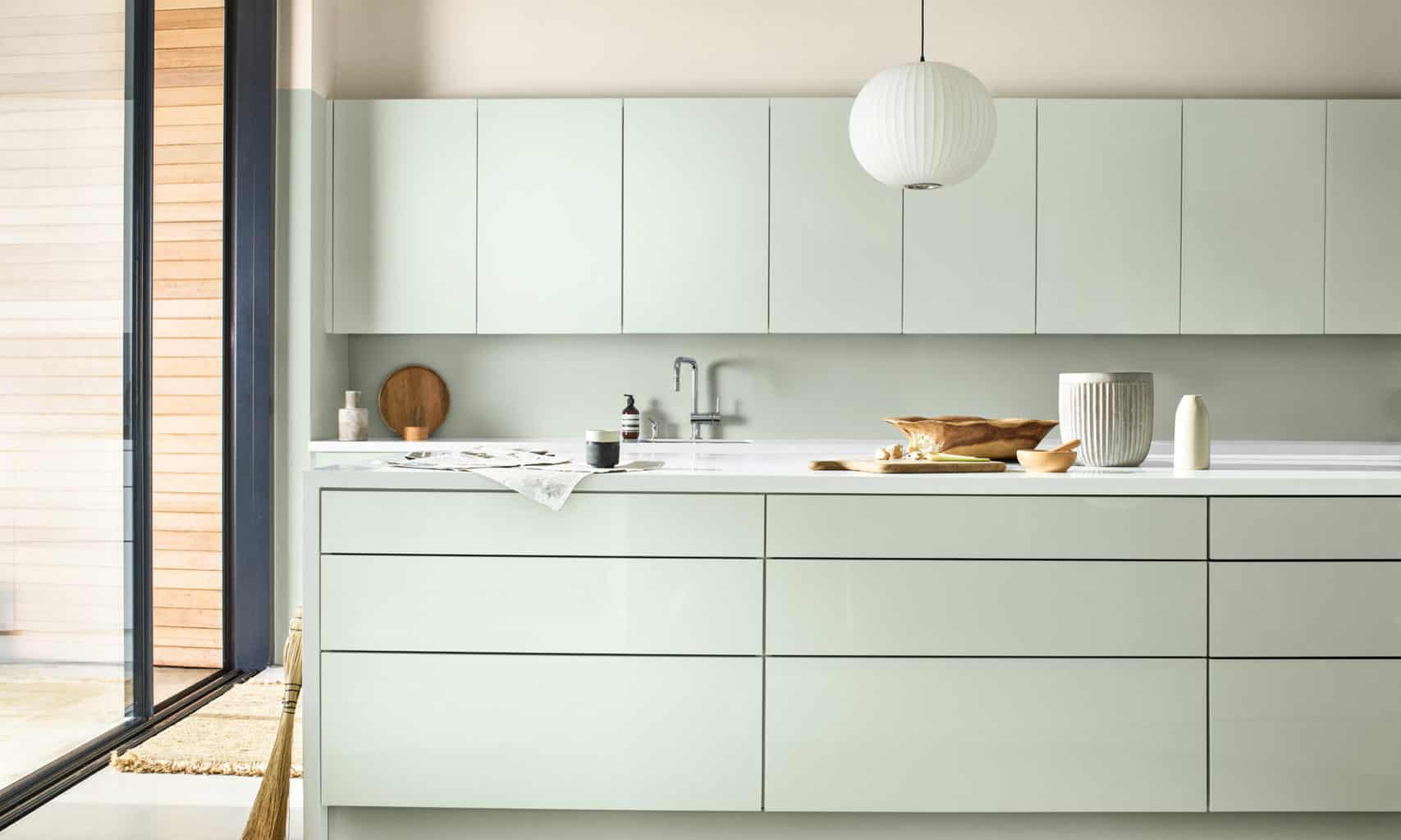 AkzoNobel Color of the Year for 2020, Tranquil Dawn, kitchen inspiration