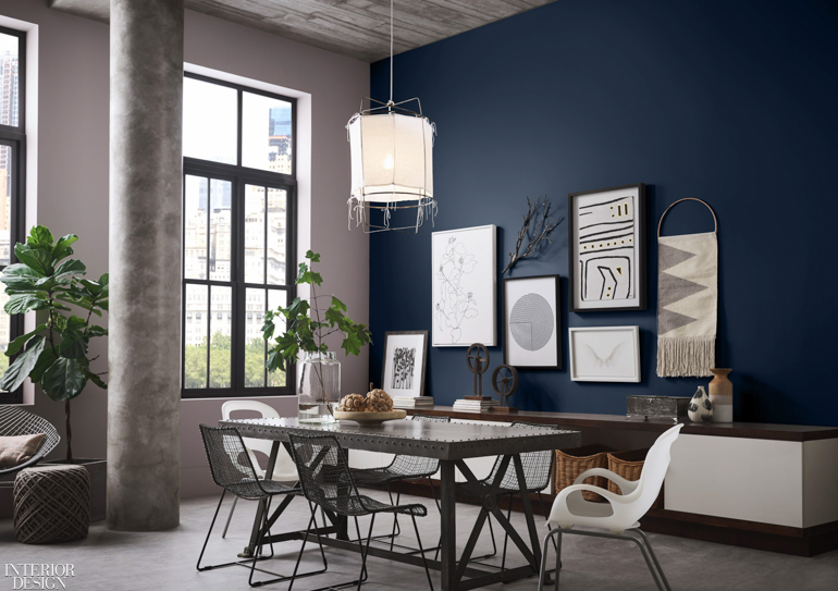 Sherwin-Williams Color of the Year 2020, Naval, wall inspiration