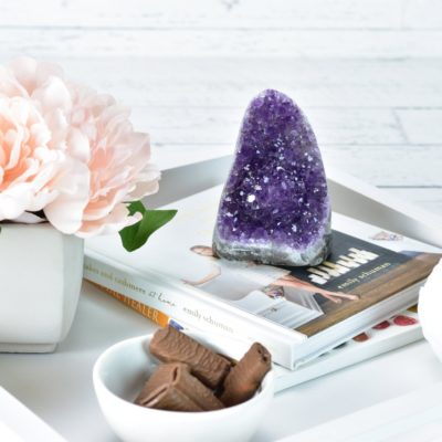 Decorating with Crystals - using amethyst cluster