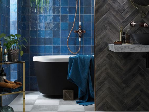 Pantone's 2020 Color of the Year Is Classic Blue tile inspiration