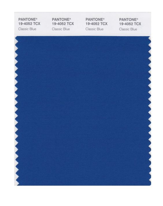 Pantone's 2020 Color of the Year Classic Blue fabric swatch