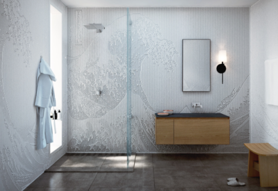 3D Carved Wall Panels: M.R. Walls + Great Wave Corian Pattern