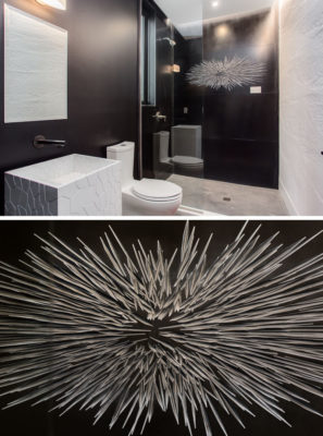 3D Carved Wall Panels: M.R. Walls + Corian inside wave house