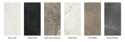 Fiandre USA Produced LFT Royal Marble Slab Colors