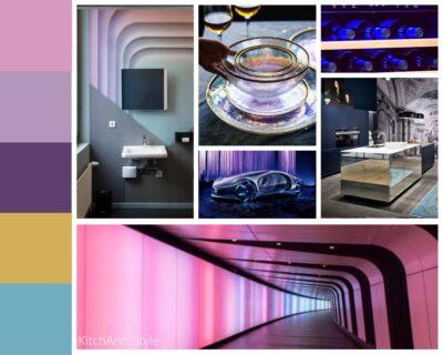 PANTONEVIEW Home + Interiors 2021 Polychrome Mood Board