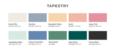 Sherwin-Williams 2021 Colormix Forecast Tapestry Palette