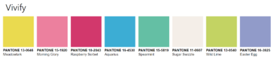 PANTONEVIEW Home + Interiors 2021 vivify Palette