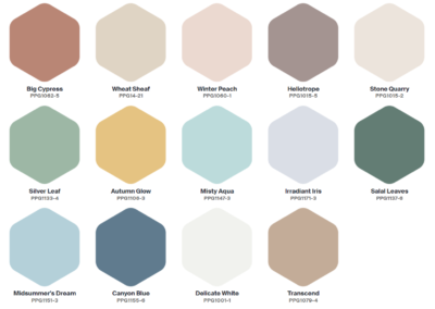 PPG 2021 Palette of the Year - Be Well