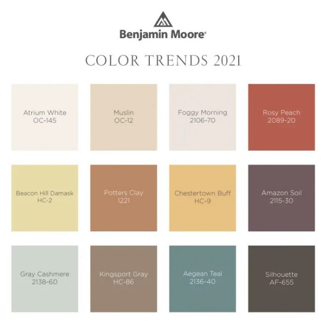 Benjamin Moore Color of the Year 2021 and palette