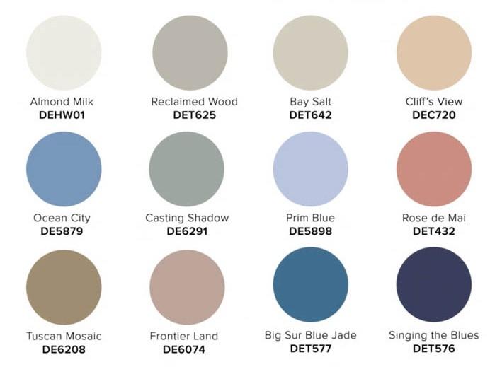 2022 COLOR + DESIGN Trends from Dunn-Edwards Meraki palette