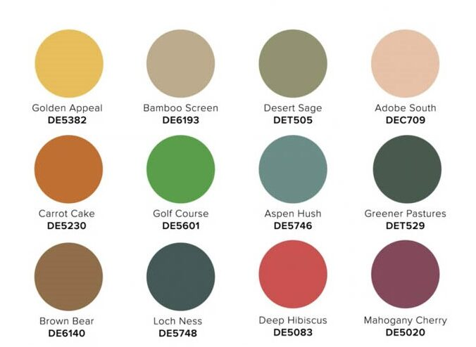 2022 COLOR + DESIGN Trends from Dunn-Edwards Mysa palette