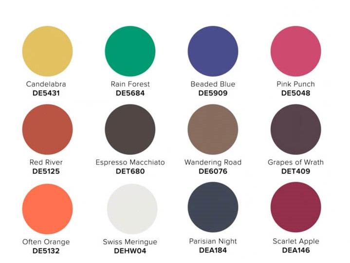 2022 COLOR + DESIGN Trends from Dunn-Edwards Retrouvailles palette