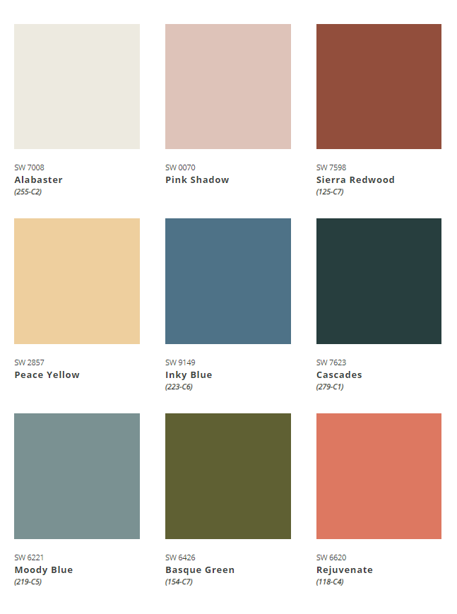 ColorMix Forecast 2022 Ephemera Palette